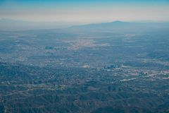 Вид с воздуха центра города и Westwood Лос-Анджелеса городских стоковая фотография rf