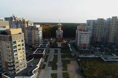 Вид с воздуха церков Владимира, столичного жителя Киева стоковые фотографии rf
