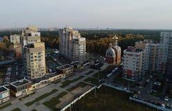 Вид с воздуха церков Владимира стоковая фотография rf