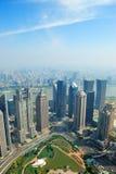 Вид с воздуха Шанхай стоковые фото