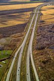 Вид с воздуха шоссе Стоковая Фотография RF
