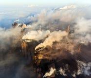 Вид с воздуха электростанции стоковое фото rf