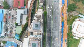 Вид с воздуха Bangsar, Малайзии сток-видео