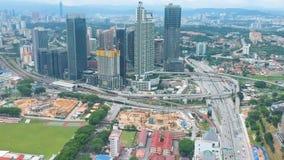 Вид с воздуха Bangsar, Малайзии акции видеоматериалы