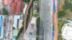 Вид с воздуха Bangsar, Малайзии видеоматериал
