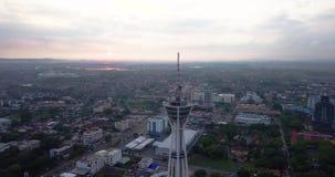 Вид с воздуха Beaeutiful башни Alor Setar в Kedah Малайзии от взгляда сверху сток-видео