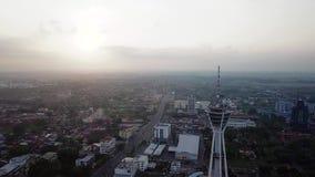 Вид с воздуха Beaeutiful Alor Setar Малайзии от взгляда сверху в утре акции видеоматериалы