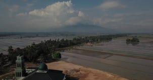 Вид с воздуха Beaeutiful Alor Setar Kedah Малайзии около Masjid Захира от взгляда сверху видеоматериал