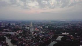 Вид с воздуха Beaeutiful Alor Setar Kedah Малайзии от взгляда сверху видеоматериал