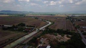 Вид с воздуха Beaeutiful kuala Kedah Малайзии сток-видео