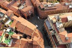 Вид с воздуха Bologna, Италия Стоковое Изображение RF