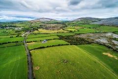 Вид с воздуха Burren в Ирландии Стоковое Фото