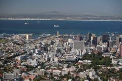 Вид с воздуха Cape Town Стоковые Изображения RF
