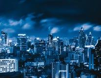 Вид с воздуха Chong Nonsi, Sathorn, Бангкока городского финансовохозяйственно стоковое изображение