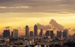 Вид с воздуха Chong Nonsi, Sathorn, Бангкока городского финансовохозяйственно стоковые изображения