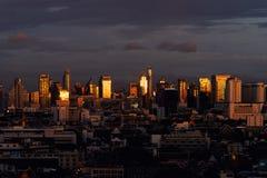Вид с воздуха Chong Nonsi, Sathorn, Бангкока городского финансовохозяйственно стоковое фото