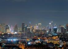Вид с воздуха Chong Nonsi, Sathorn, Бангкока городского финансовохозяйственно стоковое фото rf