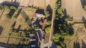 Вид с воздуха Courson стоковое фото