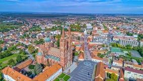 Вид с воздуха Djakovo Стоковое фото RF