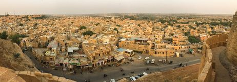 Вид с воздуха Jaisalmer, Индии Стоковое Изображение