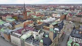 Вид с воздуха Malmo, Швеции акции видеоматериалы