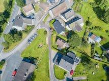 Вид с воздуха Marienheide-Kalsbach стоковые изображения