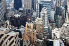 Вид с воздуха New York City Стоковое Изображение