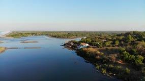 Вид с воздуха, Poneloya, Никарагуа Стоковая Фотография