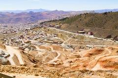 Вид с воздуха Potosi, Боливия стоковая фотография rf