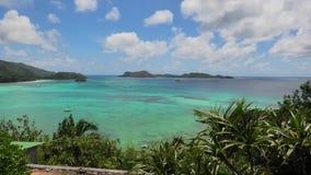 Вид с воздуха Praslin Сейшельских островов акции видеоматериалы