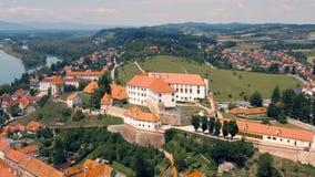 Вид с воздуха Ptuj видеоматериал