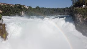 Вид с воздуха Rhine Falls, Швейцарии акции видеоматериалы