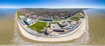 Вид с воздуха Rhyl в Уэльсе - Великобритании стоковые фотографии rf