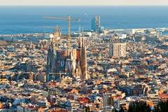 Вид с воздуха Sagrada Familia Стоковые Изображения RF