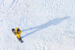 Вид с воздуха Snowboarder Стоковые Фото