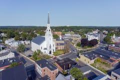 Вид с воздуха Woburn городской, Массачусетс, США стоковые фотографии rf