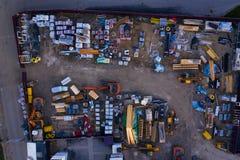 """Вид с птичьего полета строительной площадки """"деревни Avant Sorby """"на Waverley стоковые изображения"""