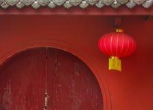 Вид фонарика Китая на двери Стоковые Фотографии RF