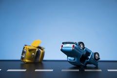 движение аварии поврежденное автокатастрофой Стоковое Изображение
