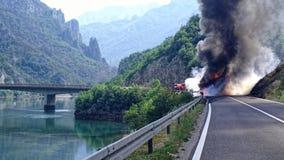 движение аварии поврежденное автокатастрофой Стоковое Изображение RF