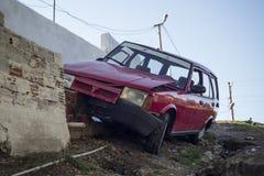 движение аварии поврежденное автокатастрофой Стоковые Изображения