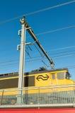 движение нерезкости проходя поезд Стоковое Фото