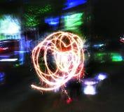 движение огня Стоковая Фотография