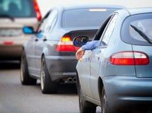 движение дороги варенья автомобилей Стоковое Изображение