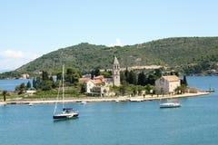 визави острова Хорватии Стоковое фото RF