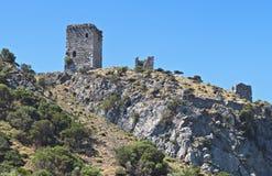 византийская башня samothraki Греции эры стоковое изображение rf
