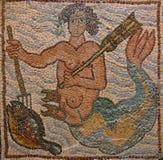 византийская мозаика Ливии леопарда cyrenaica стоковое фото rf