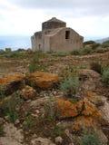 Византийская церковь, остров Marettimo, Сицилии, Италии Стоковые Фото