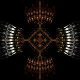 византийский крест Стоковое Фото