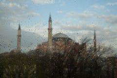 Византийский St Sophia в дожде Стоковые Изображения RF